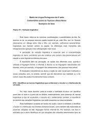 Tópico VI – Variação lingüística