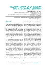 Insulinoterapia en la diabetes tipo 1 en la - Asociación Española de ...