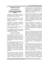1 GOBIERNO DEL ESTADO PODER LEGISLATIVO LEY DE ...