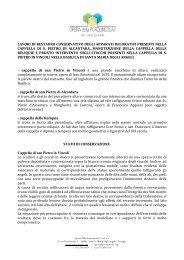 Sintesi dei lavori di restauro presso il transetto dx della ... - Assisi OFM