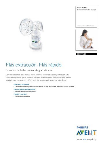 SCF290/20 Philips Extractor de leche manual