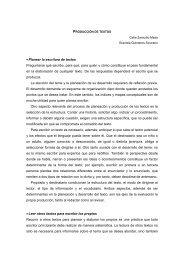 Producción de textos - Reforma de la Educación Secundaria