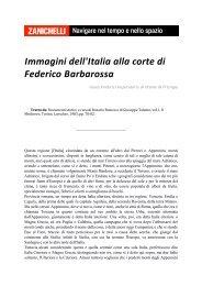 Immagini dell'Italia alla corte di Federico Barbarossa - Storia Digitale