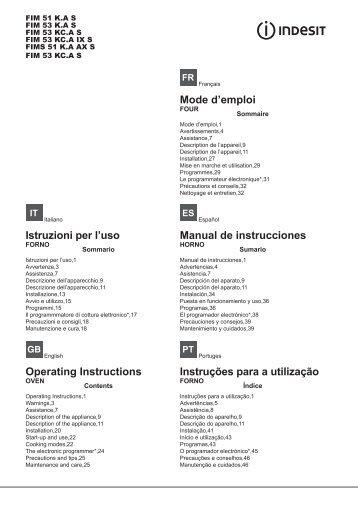 Programma's - Indesit