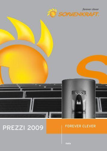 Listino prezzi - Impianto solare termico Sardegna