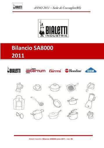Bilancio Sociale - Bialetti