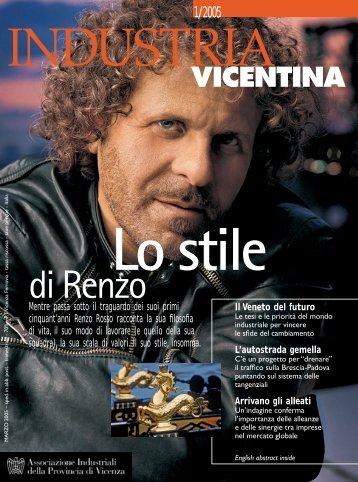 Industria Vicentina 1-2005.pdf - Confindustria Vicenza