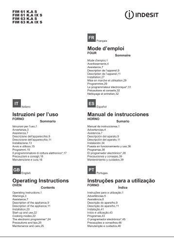 Инструкция - Indesit
