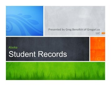 Student Records Presentation
