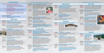 Veranstaltungsreihen Februar 2009 März 2009 Dezember 2008 ...