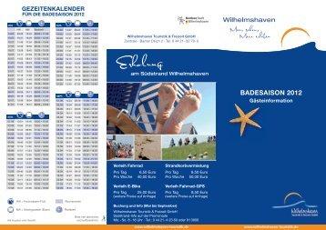 gezeitenkalender - Wilhelmshaven Touristik und Freizeit GmbH
