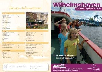 Informationen - Wilhelmshaven Touristik und Freizeit GmbH