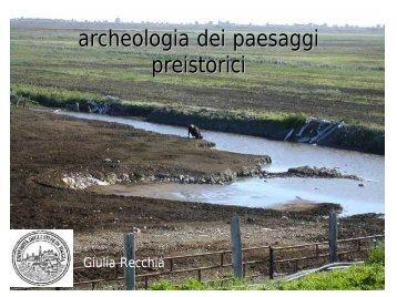 Paesaggi preistorici - Archeologia.unifg.it