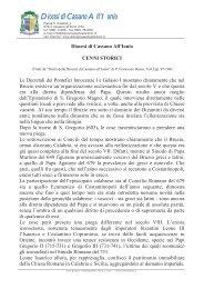 Cenni Storici - DIOCESI DI CASSANO ALL'IONIO