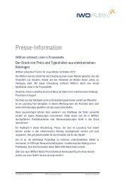 Presse-Information - IWOfurn