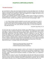 Plauto e l'arte della risata - Liceo scientifico Mericianum