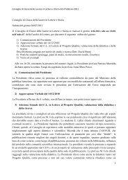 qui - Facoltà di Lettere e Filosofia - Università degli studi di Cagliari.