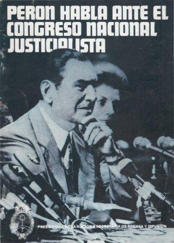 Perón habla entre el Congreso Nacional ... - Ruinas Digitales