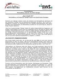 Pressemitteilung vom 7.02.08 zum Start der ... - Werkstadthaus