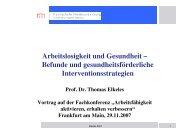 Vortrag Prof. Dr. Thomas Elkeles - Werkstatt Frankfurt eV