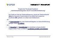 Vortrag Barbara Gawlik-Chmiel & David Beck - Werkstatt Frankfurt eV