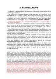 IL MOTO RELATIVO - Liceo Scientifico Galilei