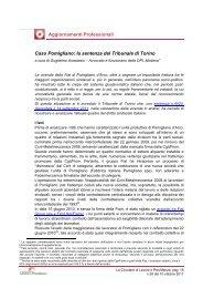 la sentenza del Tribunale di Torino - Centro Studi Lavoro e Previdenza