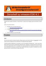 Zeroshell su vmware ESXi 4.1 - Paolo PAVAN