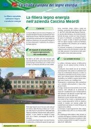 La filiera legno energia nell'azienda Cascina Meardi - Dote Regione ...