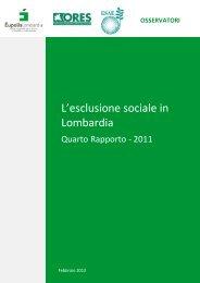 L'esclusione sociale in Lombardia - Eupolis Lombardia - Regione ...
