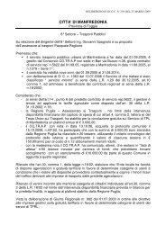 Testo delibera - Comune di Manfredonia