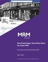 New Brand Pages, Brand New Need for Social ... - MRM Worldwide