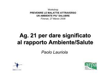 Presentazione di Paolo Lauriola - Coordinamento Agende 21 Locali ...