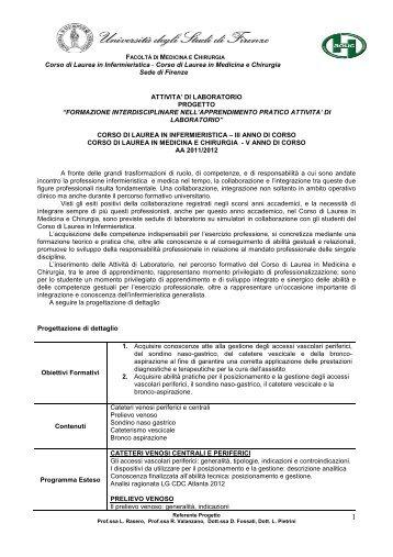 Corso di Laurea in Infermieristica - Corso di Laurea in Medicina e ...