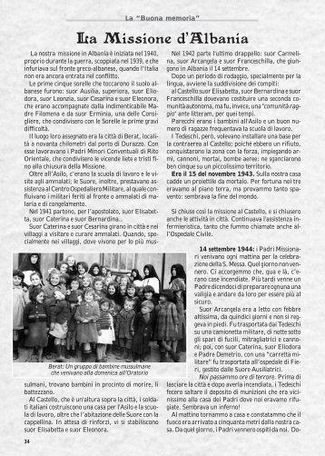 La Missione d'Albania - Suore Adoratrici