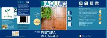etichetta - D'aqua Sirca