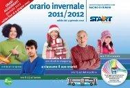 orario invernale 2011/2012 - Get a Free Blog
