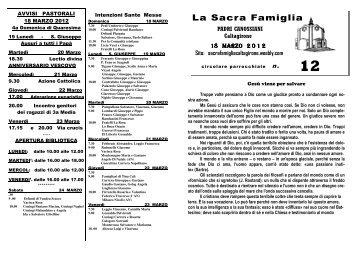 Download File - Benvenuti nel Sito della Parrocchia Sacra Famiglia ...