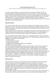 I METODI RIABILITATIVI - ISSR - Istituto Statale Sordi di Roma