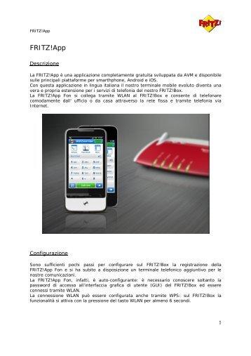 Applicazione FRITZ!App - Telecom Italia