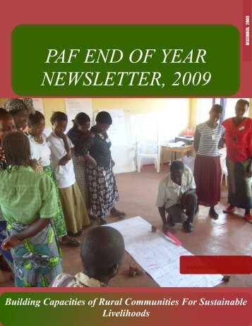PAF END OF YEAR NEWSLETTER, 2009 - Peoples Action Forum