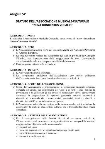Statuto - Nova Concentus Vocalis