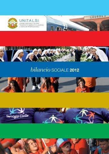 bilancio SOCIALE 2012 - Unitalsi