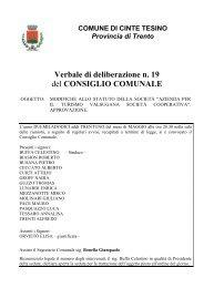 19-2012 MODIFICHE STATUTO APT - Comune di Cinte Tesino