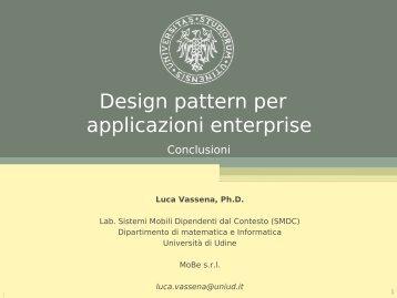 Pattern enterprise - Dipartimento di Matematica e Informatica ...