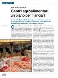 Centri agroalimentari, un piano per rilanciarli - Ermes Agricoltura