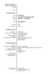 Formato Europeo per il Curriculum Vitae - Modello - ITIS