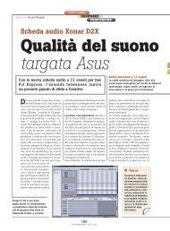Asus Xonar D2X la rivoluzione audio - PC Professionale