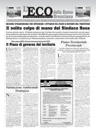 Giornale Eco ed. straord. - Eco della Bassa Bresciana