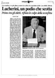 Lucherini, un podio che scotta.pdf - Comune di Arezzo